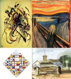 Works of renowned artists in the public domain